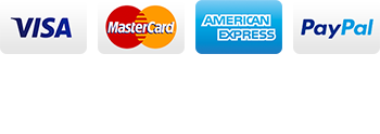 Visa, MasterCard, Amex, PayPal, Apple Pay